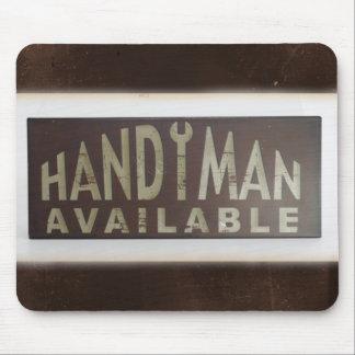 maintenance tools Construction Worker Handyman Mouse Pad