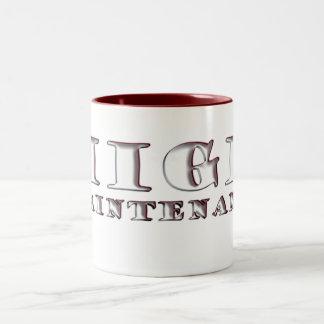 maintenance Two-Tone coffee mug