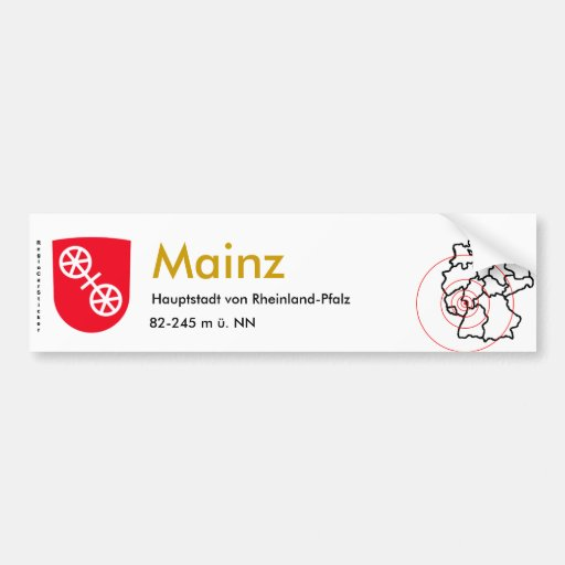 Mainz 1 bumper stickers
