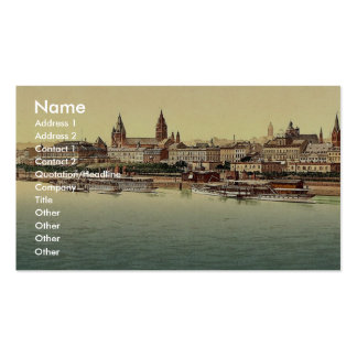 Mainz, from Rhine Bridge, the Rhine, Germany magni Double-Sided Standard Business Cards (Pack Of 100)