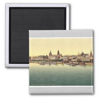 Mainz, from Rhine Bridge, the Rhine, Germany magni Magnet