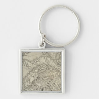Mainz, Germany Silver-Colored Square Keychain