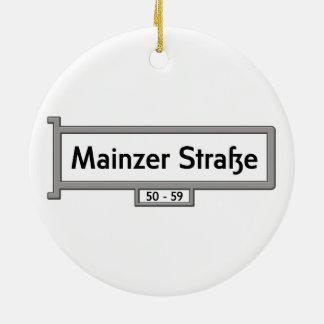 Mainzer Strasse, placa de calle de Berlín Adorno Redondo De Cerámica