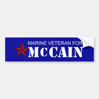 Mairne Vet for McCain Bumper Sticker Car Bumper Sticker