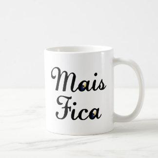 Mais Fica Classic White Coffee Mug