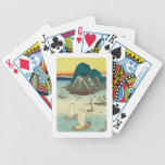 Maisaka, Japan: Vintage Woodblock Print Bicycle Playing Cards