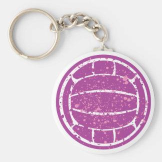 Maisen Volleyball Basic Round Button Keychain