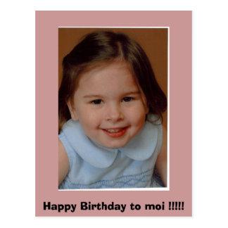 Maisie 3yr invitation, Happy Birthday to moi !!!!! Postcard