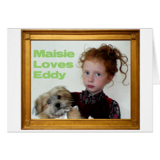 Maisie And Eddy Greeting Card