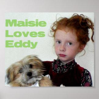 Maisie y poster del remolino póster