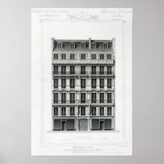 Maison A Loyer, No 3 Rue de la Paix, Paris Poster