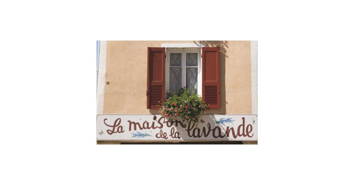 Maison de la lavande place du couwert canvas print zazzle - La maison de la place saignon ...