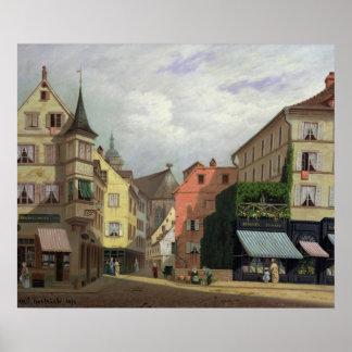 Maison Mathieu, Grand-Rue, Colmar, 1876 Poster