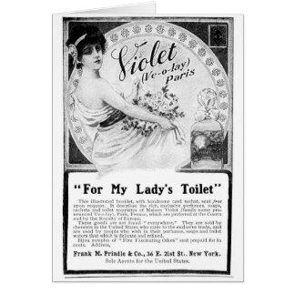 Maison Violet Toiletries Greeting Card