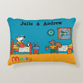 Maisy and Cyril Go on Vacation Scene Decorative Pillow