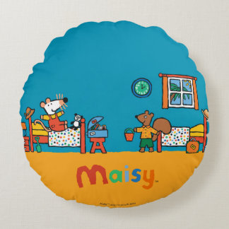 Maisy and Cyril Go on Vacation Scene Round Pillow