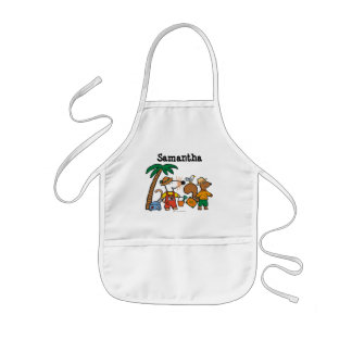 Maisy and Cyril with Palm Tree at the Beach Kids' Apron