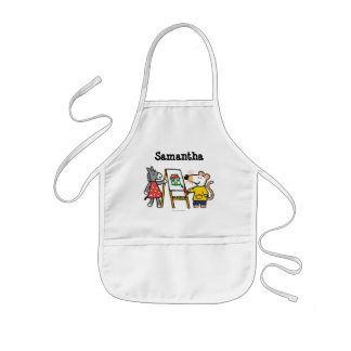Maisy and Dotty Paint at Preschool Kids' Apron