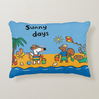 Maisy and Friends at the Beach Decorative Pillow