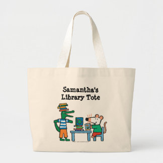 Maisy and Friends Enjoy the Library Jumbo Tote Bag