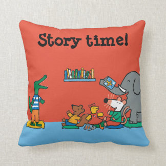 Maisy and Friends Laugh at Story Time Throw Pillow