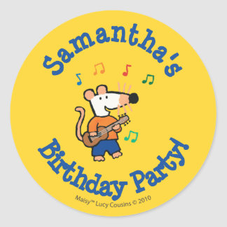 Maisy and Friends Play in the Band Classic Round Sticker