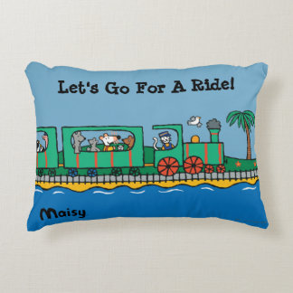 Maisy and Friends Ride on Green Train Decorative Pillow