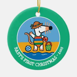 Maisy at the Beach Ceramic Ornament