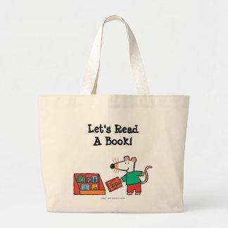 Maisy con los libros de la biblioteca bolsa tela grande