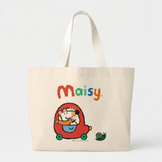 Maisy Drives a Cute Red Car Large Tote Bag