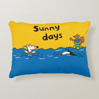 Maisy Goes Swimming at the Beach Accent Pillow