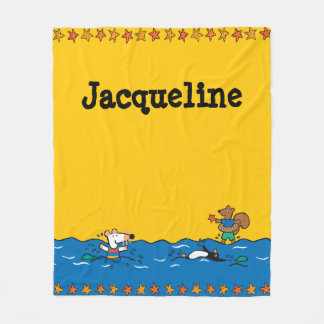 Maisy Goes Swimming at the Beach Fleece Blanket