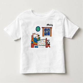 Maisy lista para los pijamas del azul de la cama t-shirt