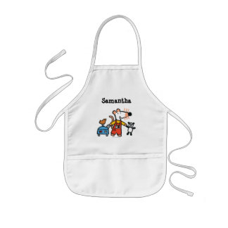 Maisy Ready for Vacation with Luggage Kids' Apron