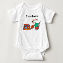 Maisy with Library Books Baby Bodysuit