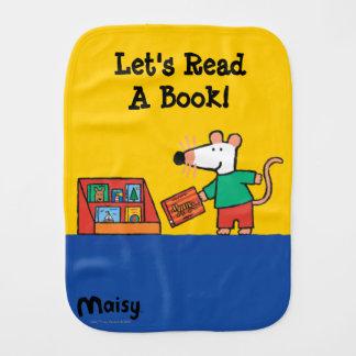 Maisy with Library Books Burp Cloth
