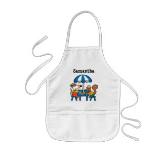 Maisy Writes Postcards under Blue Umbrella Kids' Apron