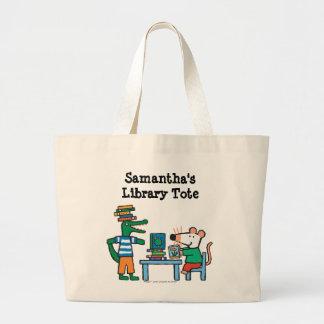 Maisy y los amigos gozan de la biblioteca bolsa tela grande