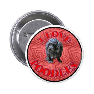 Maitai the Poodle Button. Button