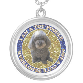 Maitai the Poodle Necklaces. Silver Plated Necklace