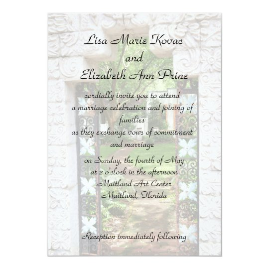 Maitland Art Center Commitment Ceremony Invitation Zazzle Com
