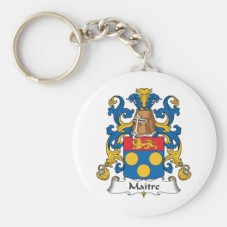 Maitre Family Crest Key Chains