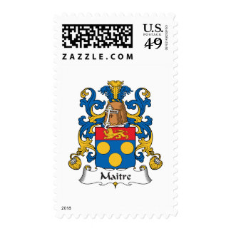 Maitre Family Crest Postage Stamps