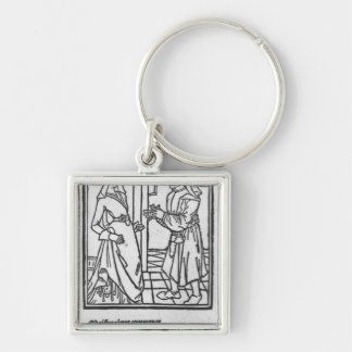 Maitre Pathelin and Guillemette Key Chain