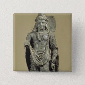 Maitreya, Gandhara (grey schist) Button