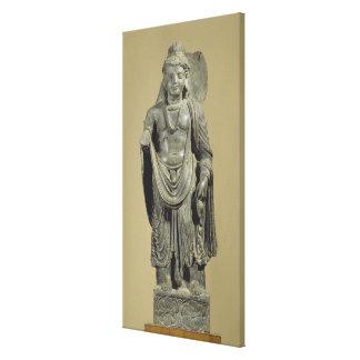 Maitreya, Gandhara (grey schist) Canvas Print
