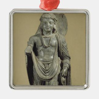 Maitreya, Gandhara (grey schist) Metal Ornament