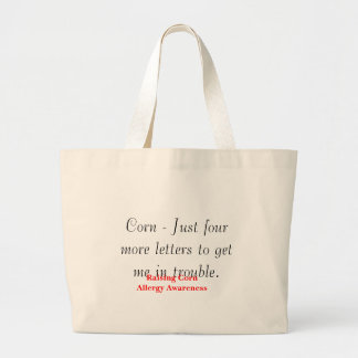 Maíz - apenas cuatro más letras bolsa lienzo