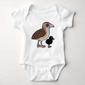 Maíz Crake con el bebé Body Para Bebé