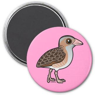 Maíz Crake de Birdorable Imán Redondo 7 Cm
